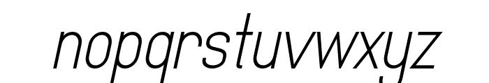 MindBlue Italic Font LOWERCASE