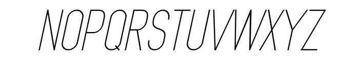 MindBlue Light Italic Font UPPERCASE