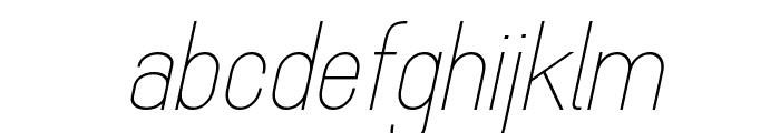 MindBlue Light Italic Font LOWERCASE