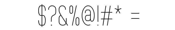 MindBlue Light Font OTHER CHARS