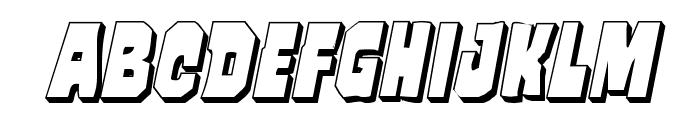 Mindless Brute 3D Italic Font UPPERCASE