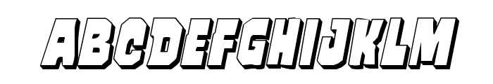 Mindless Brute 3D Italic Font LOWERCASE