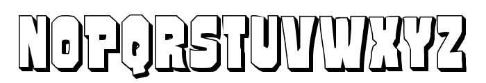 Mindless Brute 3D Font UPPERCASE