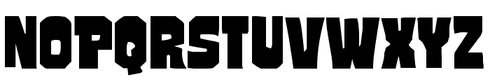 Mindless Brute Expanded Font UPPERCASE