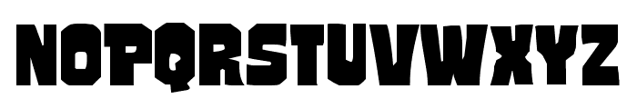 Mindless Brute Expanded Font LOWERCASE