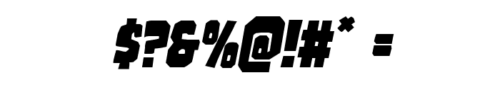Mindless Brute Italic Font OTHER CHARS