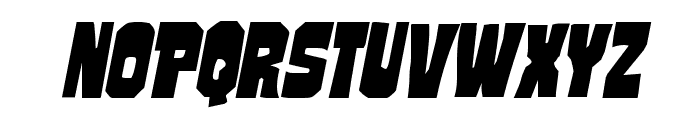 Mindless Brute Italic Font UPPERCASE