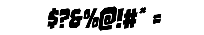 Mindless Brute Rotalic Font OTHER CHARS