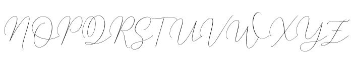 MindlineScriptDemo Font UPPERCASE