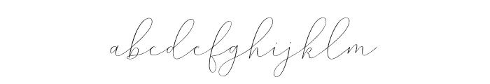 MindlineScriptDemo Font LOWERCASE