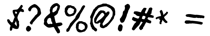 Minen oo kenguru Font OTHER CHARS