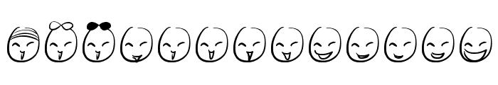 Mini Smile Font LOWERCASE