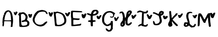 MiniHeartFont Font UPPERCASE