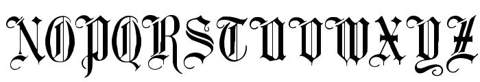 Minster No 1 Font UPPERCASE