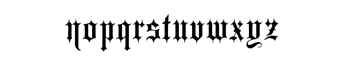 Minster No 1 Font LOWERCASE
