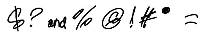 MintyFreshGelato Font OTHER CHARS