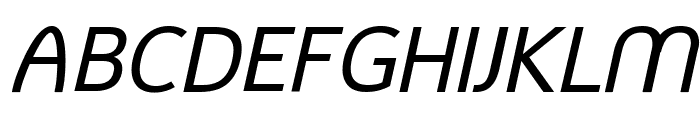 Mintysis Medium Italic Font UPPERCASE