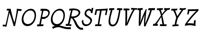 MinyaNouvelle-Italic Font UPPERCASE