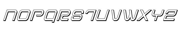 Miracle Mercury 3D Italic Font UPPERCASE