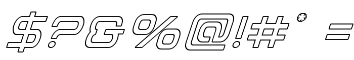 Miracle Mercury Outline Italic Font OTHER CHARS