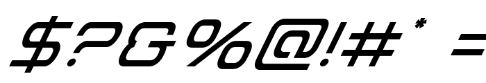 Miracle Mercury Super-Italic Font OTHER CHARS