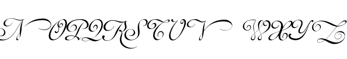 Mirella Script Limited Free Version.vfb Font UPPERCASE