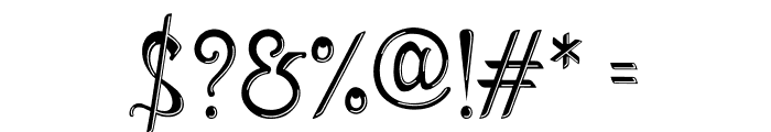 Mirinia Inline Font OTHER CHARS