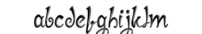 Mirinia Inline Font LOWERCASE