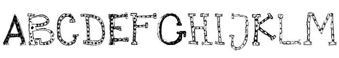 Mischief Circus Font UPPERCASE