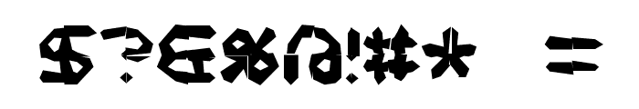 Mishmash 4x4i BRK Font OTHER CHARS
