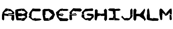 Mishmash 4x4i BRK Font UPPERCASE