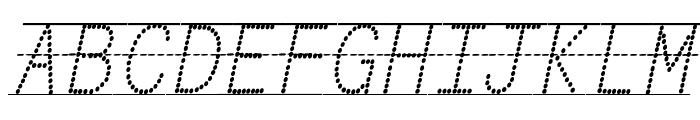 Miss Olsen's Classroom Italic Font UPPERCASE