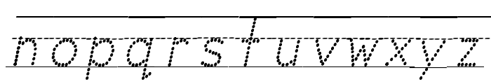 Miss Olsen's Classroom Italic Font LOWERCASE