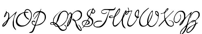 MissBrooks Regular Font UPPERCASE