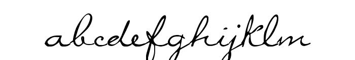 MissBrooks Regular Font LOWERCASE