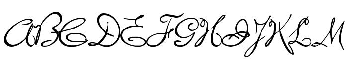 MissBrooks Font UPPERCASE