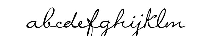 MissBrooks Font LOWERCASE