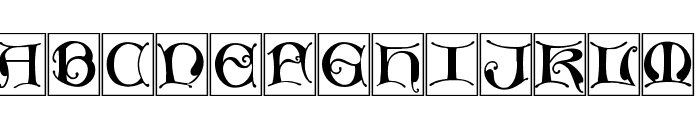 MissalUncialeBricks Font UPPERCASE