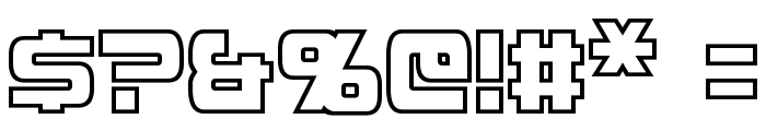 Mission GT-R Hollow Condensed Font OTHER CHARS