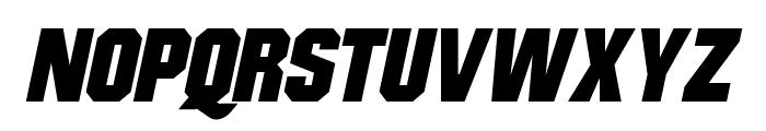 Mister Belvedere Oblique Font UPPERCASE
