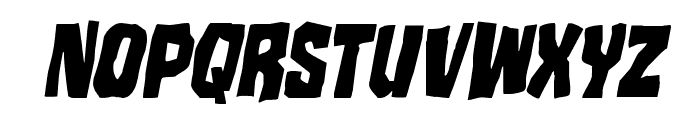 Mister Twisted CondensedItalic Font LOWERCASE