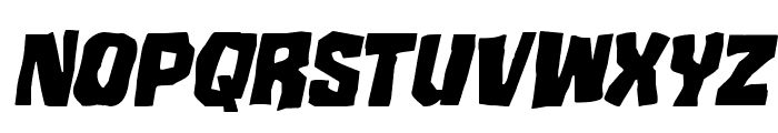 Mister Twisted Staggered Italic Font LOWERCASE