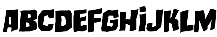 Mister Twisted Staggered Rotalic Font LOWERCASE