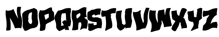 Mister Twisted Warped Rotalic Font UPPERCASE