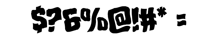 Mister Twisted Warped Font OTHER CHARS