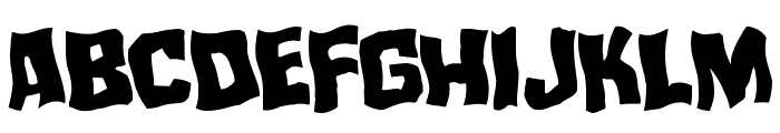 Mister Twisted Warped Font UPPERCASE