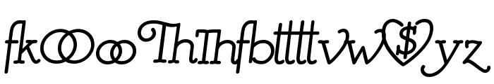 Mistress Script - Alternates Font LOWERCASE