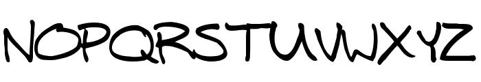 Mitch Hand Font UPPERCASE
