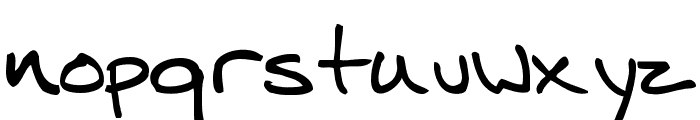 Mitch Hand Font LOWERCASE