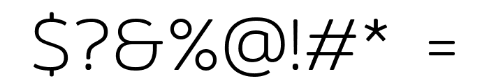 Mitr-ExtraLight Font OTHER CHARS